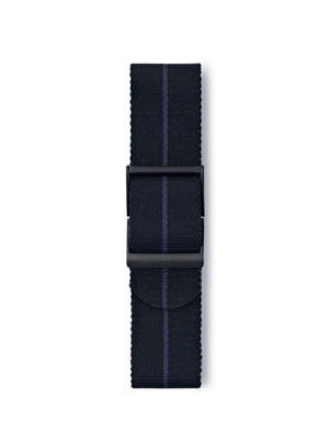 STR-N16: Black with Dark Blue Pinstripe Webbing Strap