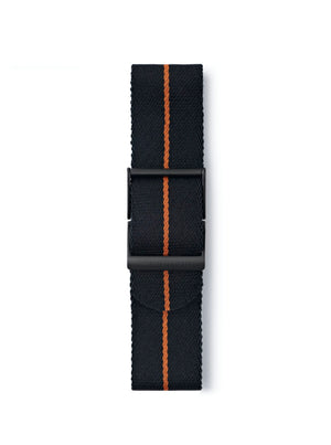 STR-N17: Black with Burnt Orange Pinstripe Webbing Strap