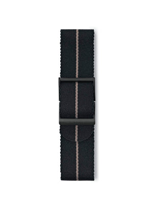 STR-N18: Black with Desert Brown Pinstripe Webbing Strap