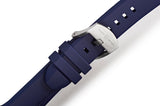 STR-R03: Dark Blue Rubber Strap with Brushed Buckle