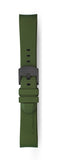 STR-R04: Olive Green Rubber Strap with Grey Buckle