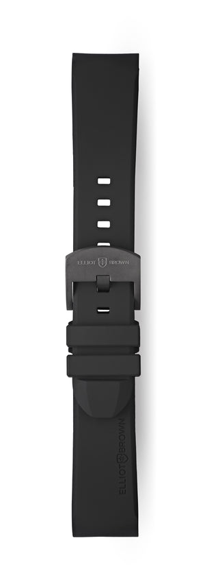 STR-R06: Black Rubber Strap with Grey Buckle