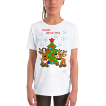 Laden Sie das Bild in den Galerie-Viewer, Reindeer-Christmas Kinder Kurzarm T-Shirt