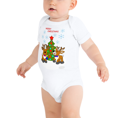 Reindeer-Christmas Baby Body