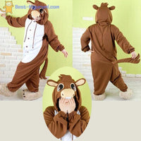 Adult Donkey Costume | Kigurumi Pajamas for Women & Men - flannel flannel animal