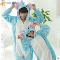 Adult Elephant Onesie Pajamas | Kigurumis for Men & Women - flannel flannel animal