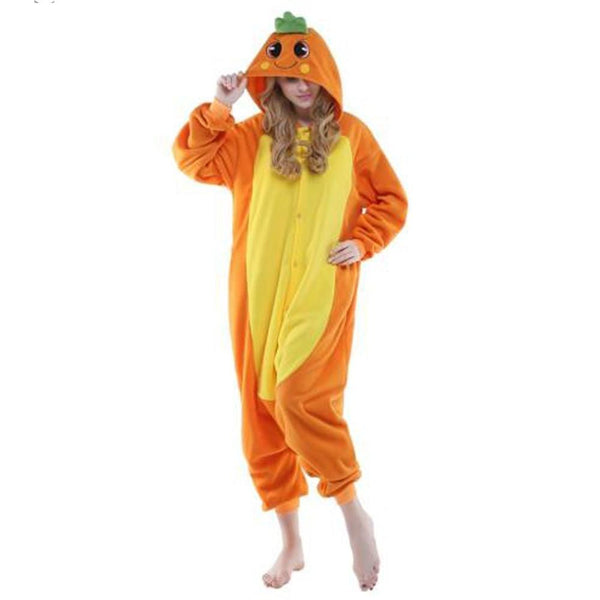 Carrot Onesie for Adults | Kigurumi Style Adult Onesie Pajamas-bestkigurumi