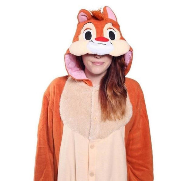 Chipmunk Onesie for Adults | Kigurumi Style Adult Onesie Pajamas-bestkigurumi