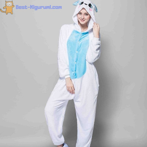 Easter Bunny Onesie for Adults | Pink or Blue Available - easter flannel flannel animal