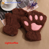 Fingerless Cat Paw Gloves for Adults-Best Kigurumi