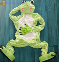 Frog Onesie for Adults | Kigurumi Pajamas for Men & Women - flannel flannel animal