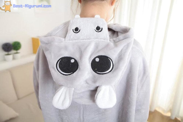 Hippo Onesie Pajamas for Adults | Flannel Kigurumi-bestkigurumi