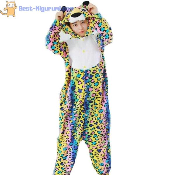 Leopard Onesie for Adults | Kigurumi Style Adult Onesie Pajamas-bestkigurumi
