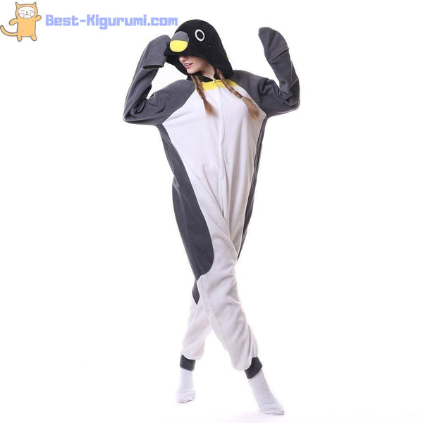 Penguin Onesie for Adults | Kigurumi Style Adult Onesie Pajamas-bestkigurumi