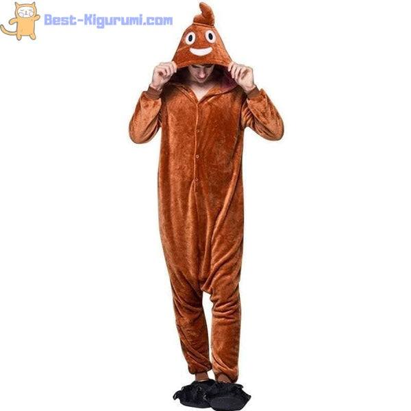 Poop Emoji Onesie for Women & Men | Adult Kigurumis -Best Kigurumi