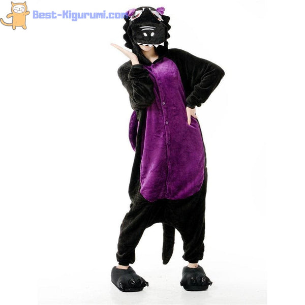 Purple Dragon Onesie for Adults | Kigurumi Style Adult Onesie Pajamas-bestkigurumi