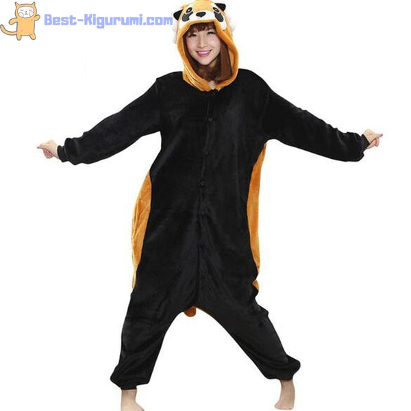 Raccoon Onesie Pajamas for Adults | Flannel Kigurumi-bestkigurumi