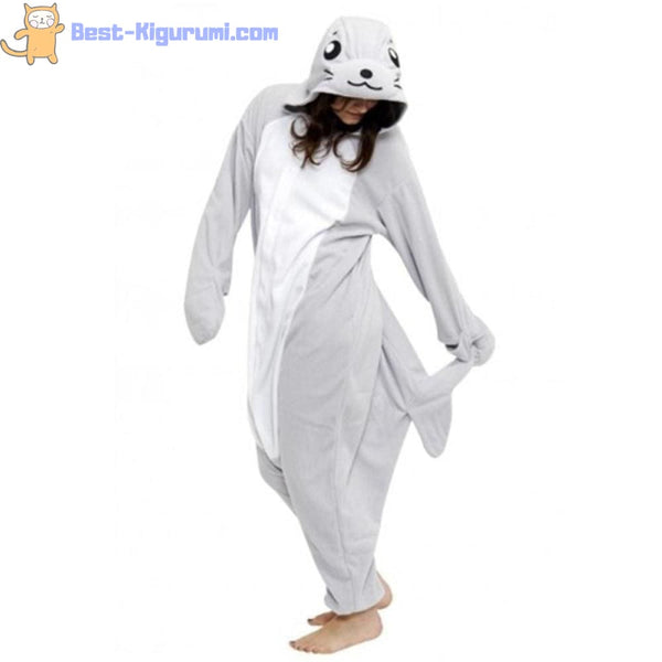 Seal Onesie for Adults | Kigurumi Style Adult Onesie Pajamas-bestkigurumi