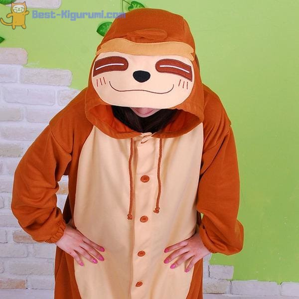Sloth Onesie for Adults | Kigurumi Pajamas for Women & Men - Animal Fleece