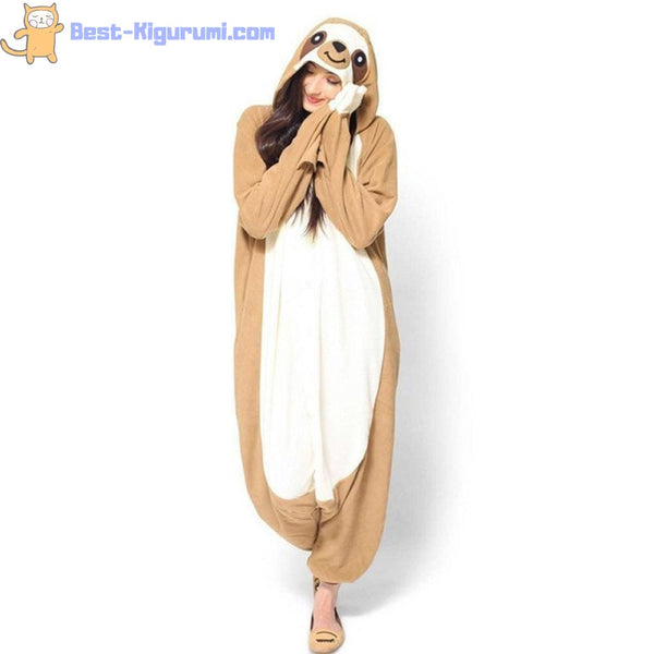 Sloth Onesie for Adults | Kigurumi Style Adult Onesie Pajamas-bestkigurumi