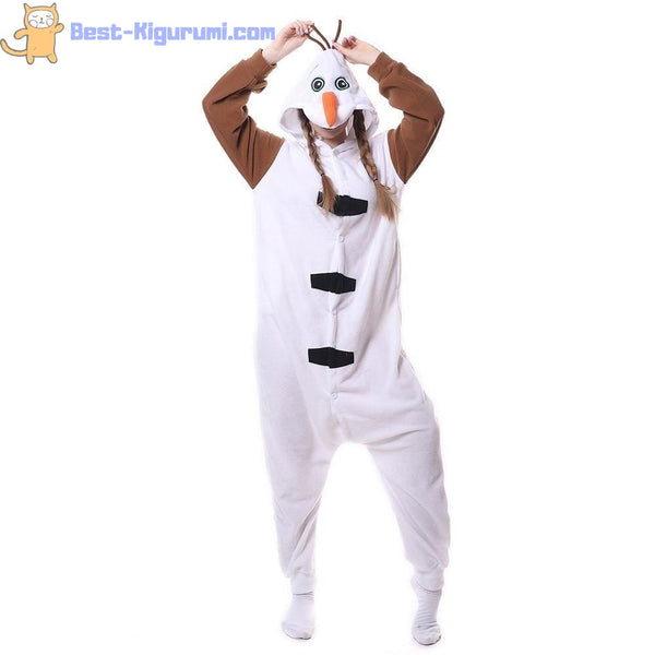 Snowman Onesie for Adults | Kigurumi Style Adult Onesie Pajamas-bestkigurumi