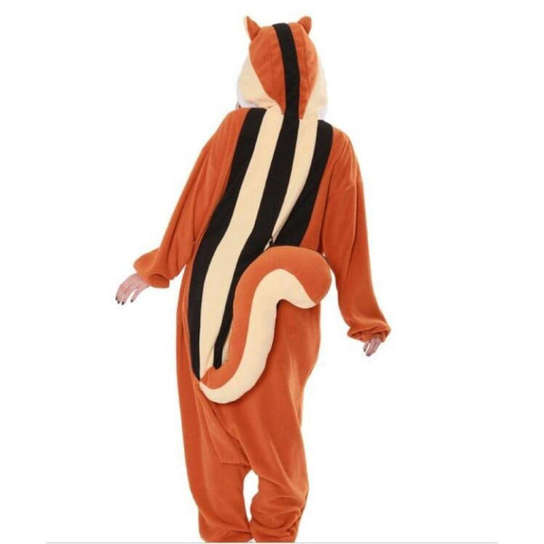 Squirrel Costume for Adults | Kigurumi Style Adult Onesie Pajamas-bestkigurumi