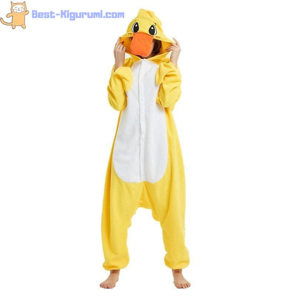 Yellow Duck Onesie for Adults | Duck Kigurumi - yellow duck / S