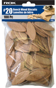 #20 Beech Wood Biscuits 100 Pc