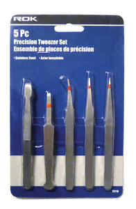 5 Pc Precision Tweezer Set
