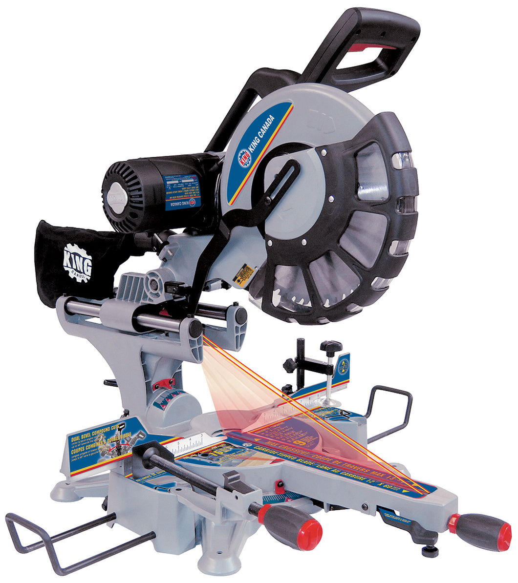 "12"" Dual Sliding Compound Miter Saw w/ Twin Laser"