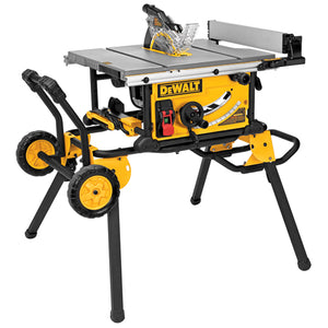 "10"" Jobsite Table Saw 32 - 1/2"" Rip Capacity w/ Rolling Stand"