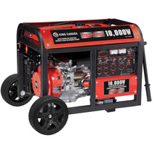 Load image into Gallery viewer, Gasoline Generator w/ Electric Start And Wheel Kit 10,000 Watt