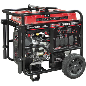 15,000 Watts V-twin Gasoline Generator w/ Electric Start