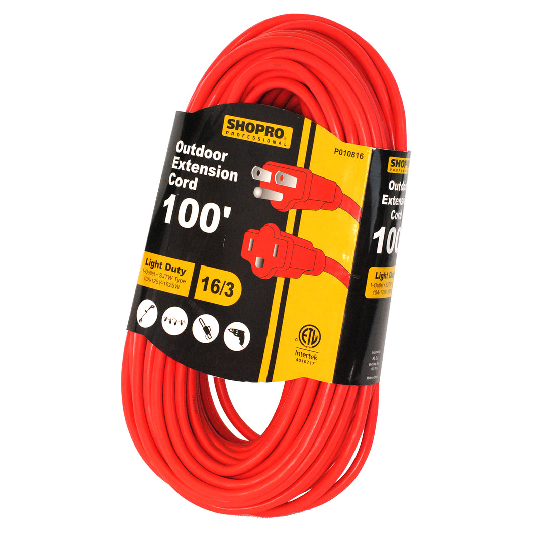 100' Outdoor Extension Cord