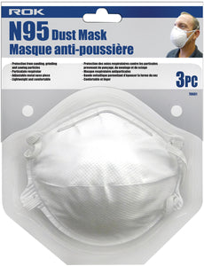 N95 Dust Mask 3 Pc