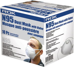 N95 Dust Mask w/ Valve 10 Pc