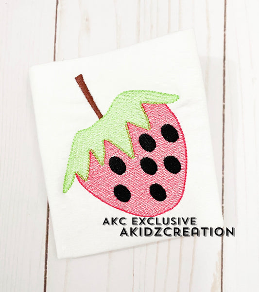 sketch embroidery design, sketch strawberry embroidery design, fruit embroidery design, sketch fruit embroidery design, food embroidery design