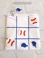 ith tic tac toe board, sports embroidery, ith sports game, ith game, ith bag, ith baseball game,