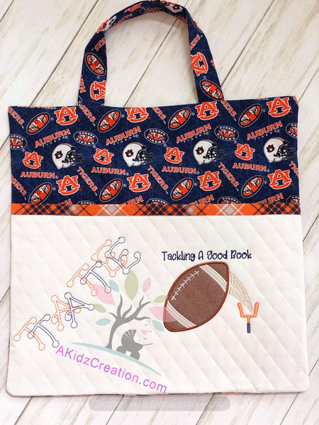 football reading pillow, football applique, sports applique, sports embroidery design, sports embroidery file, sports embroidery pattern, football pattern design, font embroidery, dot font