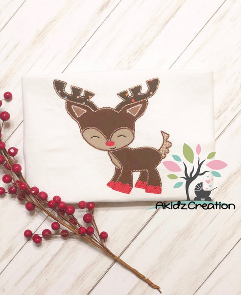reindeer embroidery design, quick stitch reindeer embroidery design, christmas reindeer embroidery design, christmas embroidery design, deer embroidery design, deer applique, reindeer applique
