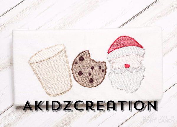 cookies embroidery design, sketch cookie embroidery design, sketch santa embroidery design, santa embroidery design, milk embroidery design, sketch milk design, christmas embroidery