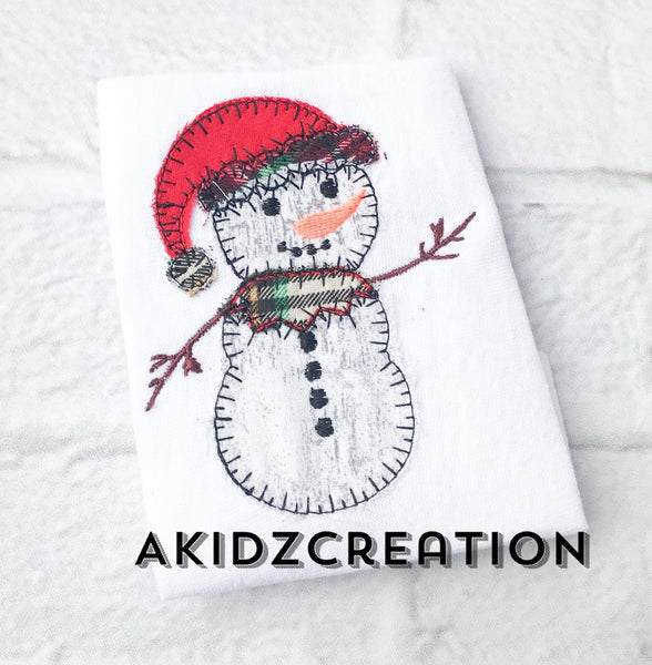 snowman embroidery design, christmas embroidery design, winter embroidery design, santa hat embroidery design