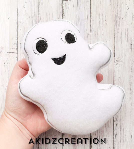ith ghost stuffie, stuffie embroidery design, embroidery, machine embroidery, machine stuffie, ghost stuffie for machine embroidery, halloween stuffies