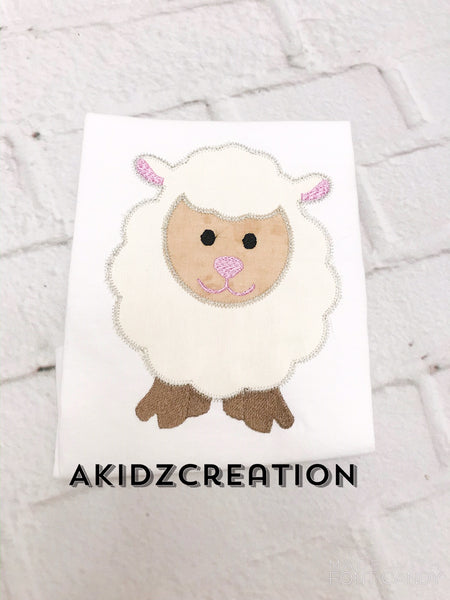 lamb embroidery design, sheep embroidery design, applique, akidzcreation, lamb applique, sheep applique, animal embroidery