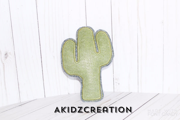 ith cactus stuffie, stuffie embroidery design, stuffie embroidery pattern, cactus embroidery, cactus applique