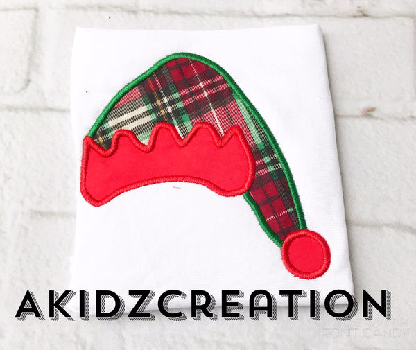 christmas embroidery design, elf hat embroidery design, santa hat embroidery design, elf embroidery design