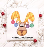 christmas moose embroidery design, moose embroidery design, christmas embroidery design, christmas animals embroidery design, animal embroidery design