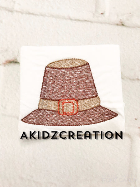 sketch pilgrim hat, pilgrim hat embroidery design, thanksgiving embroidery design, sketch thanksgiving embroidery design, sketch embroidery, machine embroidery, akidzcreation