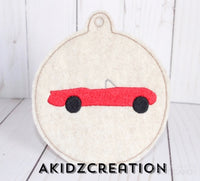 ith car ornament embroidery design, car embroidery design, car design, christmas ornament, ornament embroidery design
