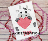 valentine embroidery design, sketch valentine embroidery design, sketch cow embroidery design, cow embroidery design, valentine cow embroidery design, cow with heart embroidery design